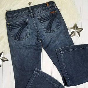 7 for all mankind Dojo jeans flare dark blue 27